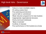 high level risks governance