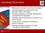 improving governance