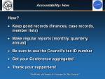 accountability how