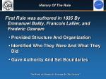 history of the rule