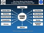 the core work of the society it always starts with a home visit