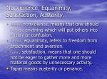 nonviolence equanimity satisfaction austerity