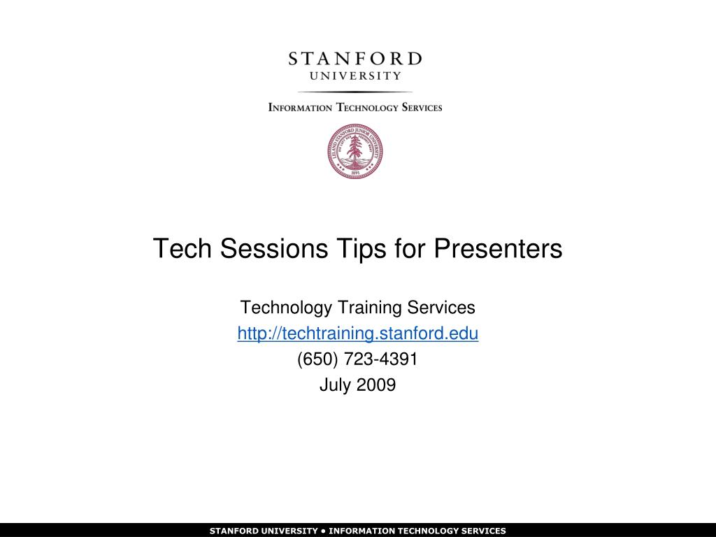 tech sessions tips for presenters l.