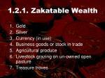 1 2 1 zakatable wealth