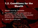 1 2 conditions for the wealth