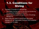 1 3 conditions for giving55