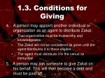 1 3 conditions for giving56