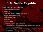 1 6 debts payable