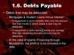 1 6 debts payable29