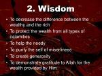 2 wisdom