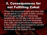 5 consequences for not fulfilling zakat