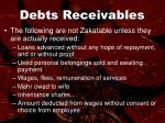 debts receivables35