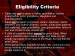 eligibility criteria60