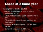 lapse of a lunar year