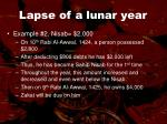lapse of a lunar year46