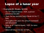 lapse of a lunar year48