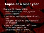 lapse of a lunar year50