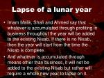 lapse of a lunar year53