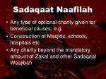 sadaqaat naafilah