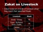 zakat on livestock
