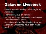 zakat on livestock77