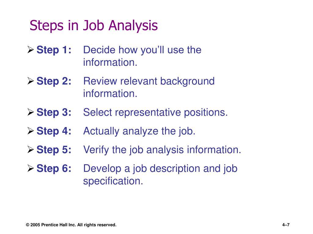 Steps in Job Analysis
