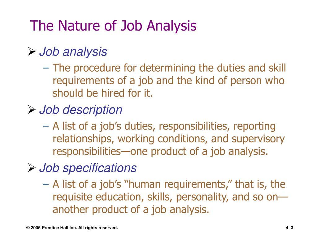 The Nature of Job Analysis