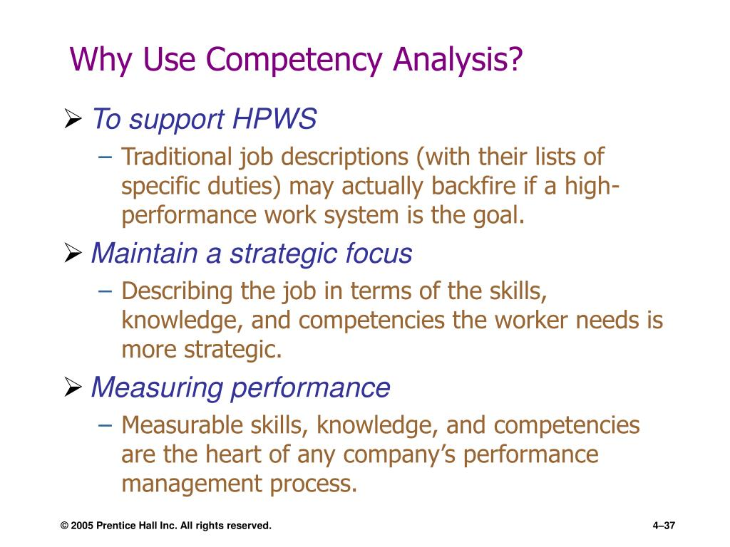 Why Use Competency Analysis?