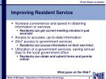 improving resident service