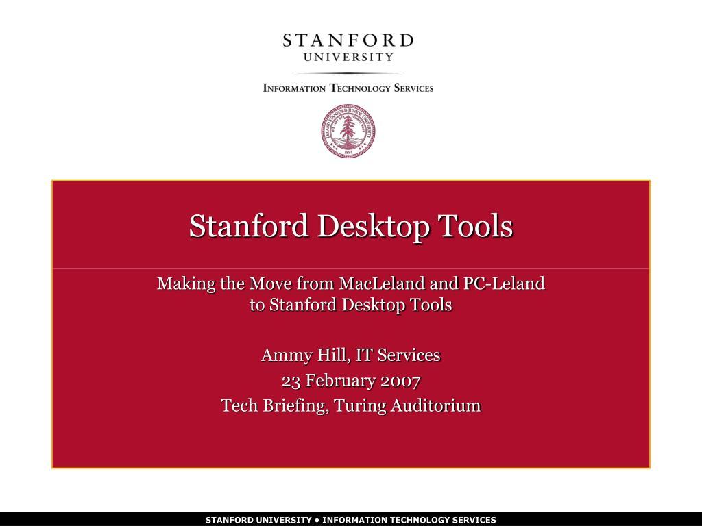 stanford desktop tools l.