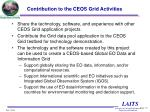 contribution to the ceos grid activities