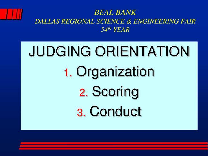 Beal bank dallas regional science engineering fair 54 th year