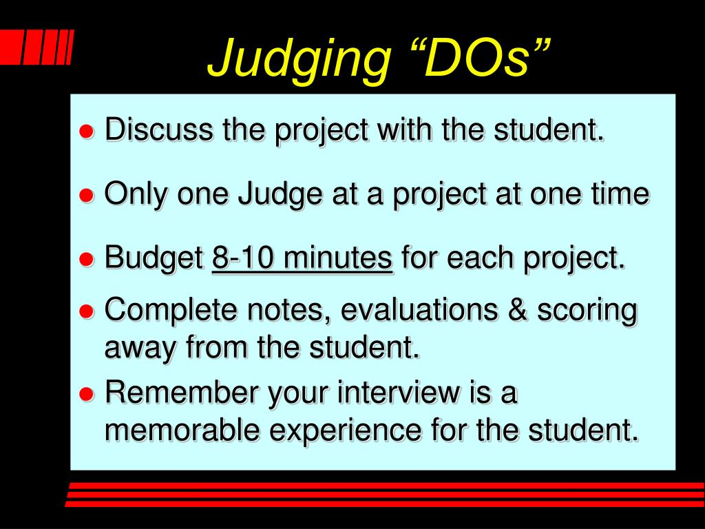 "Judging ""DOs"""
