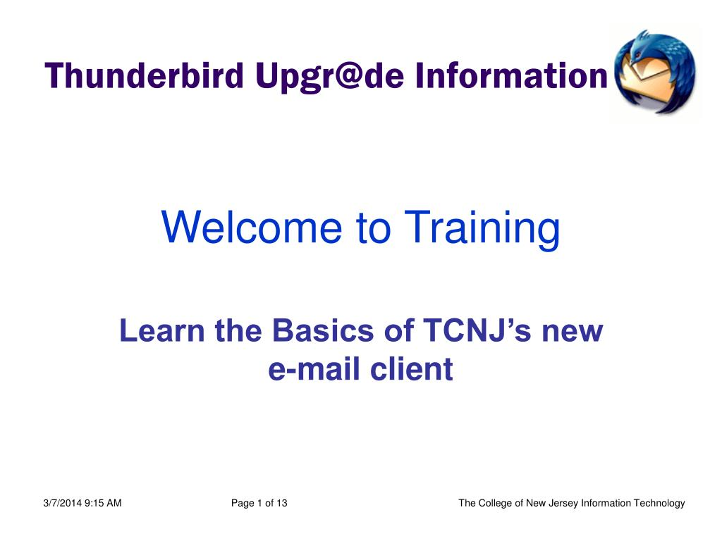 welcome to training l.