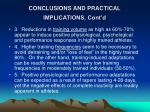 conclusions and practical implications cont d
