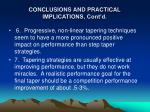 conclusions and practical implications cont d9