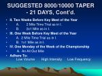 suggested 8000 10000 taper 21 days cont d