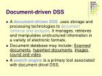 document driven dss