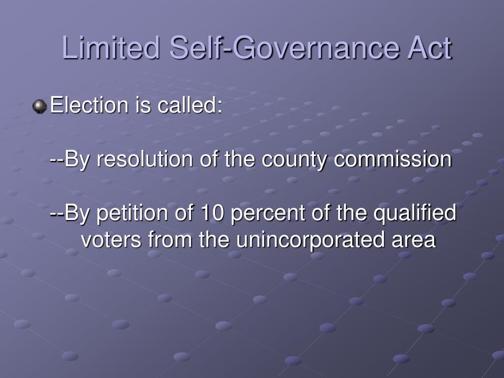 Limited Self-Governance Act