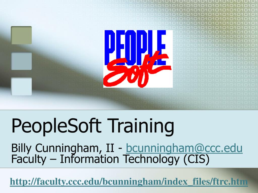 peoplesoft training l.