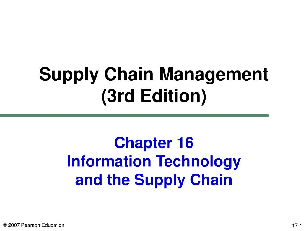 chapter 16 information technology and the supply chain l.