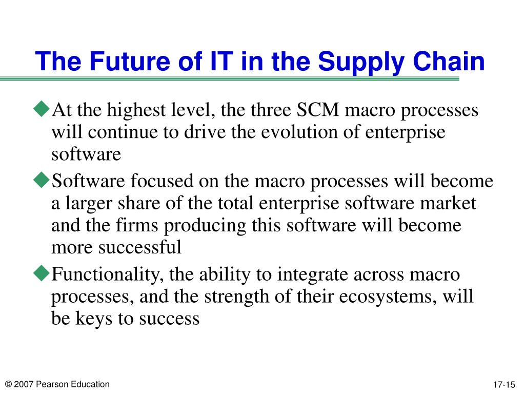 The Future of IT in the Supply Chain