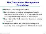 the transaction management foundation