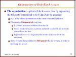 optimization of disk block access18
