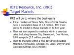 rite resource inc rri target markets