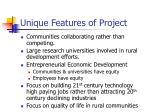 unique features of project