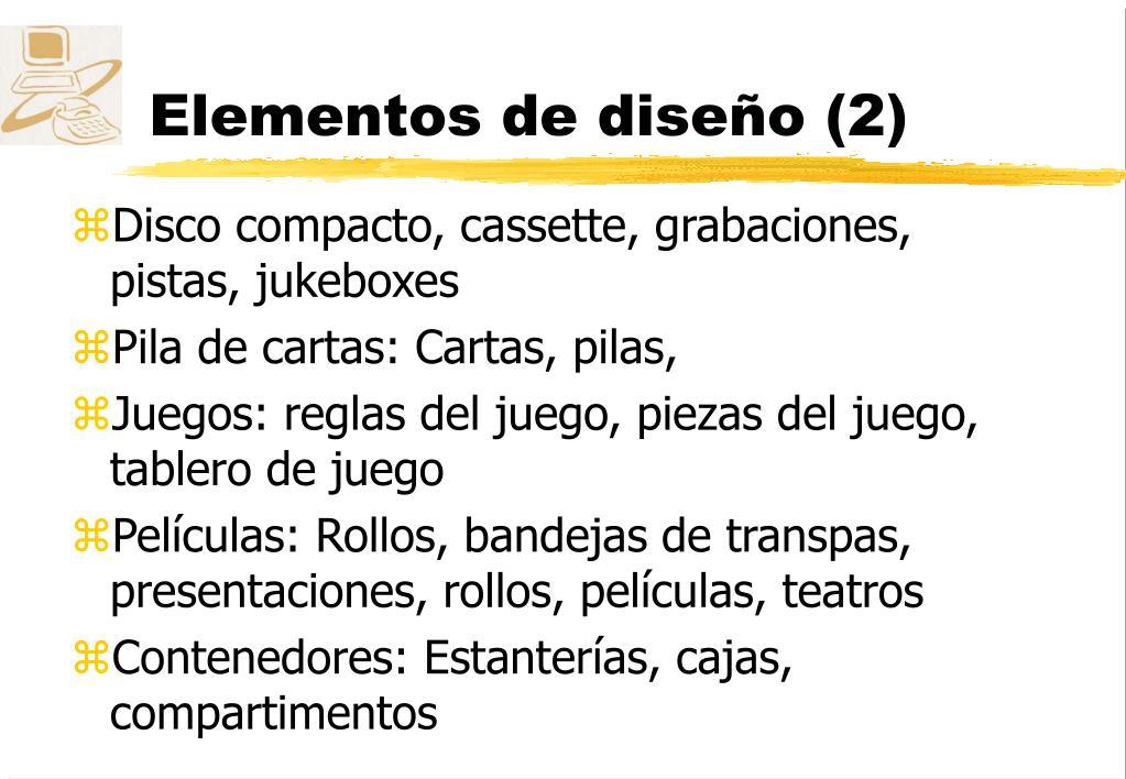 Elementos de diseño (2)
