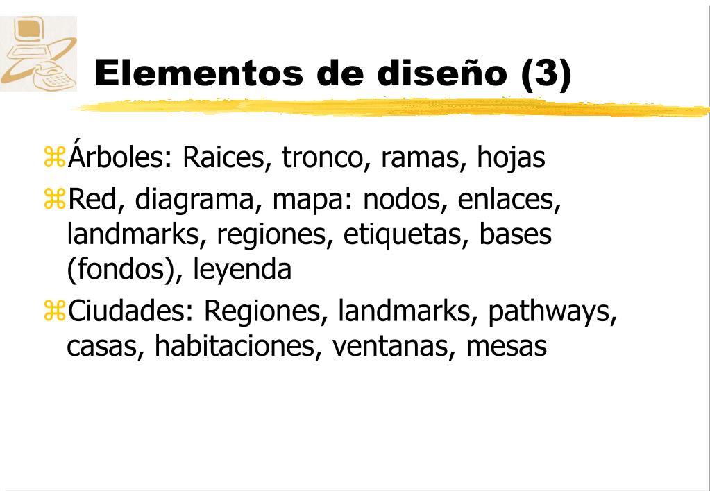 Elementos de diseño (3)