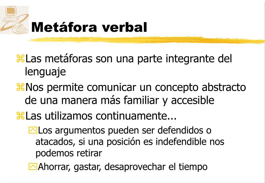 Metáfora verbal