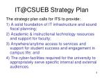 it@csueb strategy plan